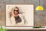 Стилизация портрета под акварель