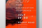 Концепт афиши конференции SpaceX