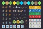 Пиксельарт графика ( фэнтези сет) для одной из игр