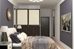 Спальня в темных оттенках вариант 1