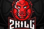 Логотип+обложка ВК: 2KILL(магазин игровых товаров)
