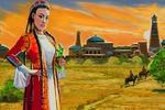 Иллюстрация  и обложка к узбекской поэме