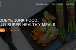 Landing page for food company