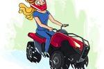 Девушка на квадроцикле