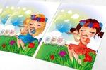 Девочки-пастушки для детского издания