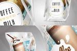 """Дизайн упаковок """"Кофе с молоком"""""""