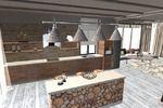 Кухня - гостинная в стиле Эко
