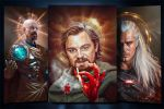 Звезды в образе святых (Digital art)