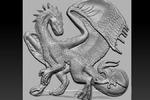 3D модель дракона для ЧПУ