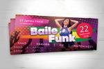 Рекламный флаер вечеринки «Baile Funk»