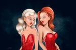 """Иллюстрация  """"Размер женской груди"""""""