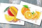 Рисунки для магазина фруктов
