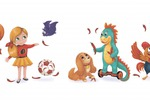 Персонажи для детского меню сети ресторанов