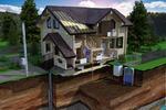 Визуализация разреза дома из бруса