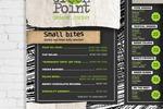 """Разработка меню на всю стену сокового бара """"Green Point"""""""