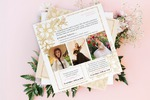 Дизайн приглашения свадебных и вечерних платьев