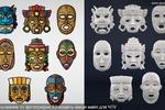 Моделирование Маски майя по рисунку