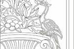 Отрисовка орнамента Жана-Берена старшего, фрагмент