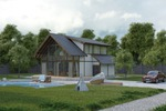 Дом с элементами стекла