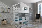 Проект детской кровати-домика, дизайн и визуализация в интерьере