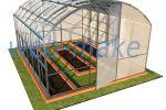 3Д модель, проект дачных теплиц 1