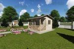 3D Визуализация, проект заднего дворика с баней