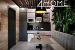 Проект офиса площадью 16,63 кв.м. (лаунж-зона).