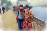 Обработка фото под акварель