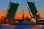 Дворцовый мост. Санкт-Петербург.
