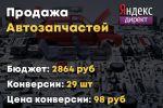 Яндекс Директ - Автозапчасти