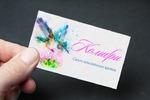 Визитка цветочного салона Колибри