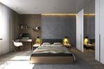 дизайн спальни в лофт стиле