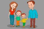 """Векторная иллюстрация """"Счастливая семья"""""""
