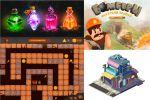 пиксель арт, игровые персонажи, интерфейс