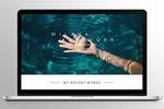 Сайт-портфолио с минималистичным дизайном