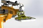 Захват кирпича с роботом