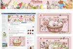 Дизайн оформления страницы в ВК для натуральной косметики Малина