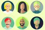 Icons in hipster style for web design
