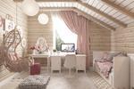 Детская комната в доме из клееного бруса
