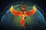Иллюстрация для сайта криптовалюты Phoenix