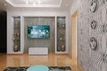 Рабочий проект гостиной 3-х комнатной квартиры
