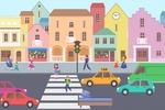 векторная отрисовка города