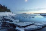 Сумерки на Ладожском озере
