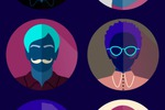 Icons people for web design