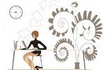 Business-woman in art sphere. Designer