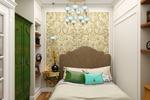 Спальня в неоклассическом стиле в однокомнатной квартире