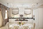 Кухня-гостиная в коттедже 350 кв.м. в Лен.области