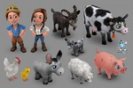 3D персонажи для фермы с анимацией