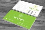 Визитка для мастерской йоги OJAS YOGA