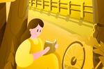 иллюстрация в стиле flat (девушка с книгой)